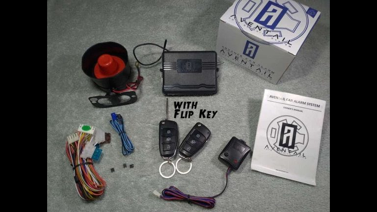 Car Keyless Entry System with Alarm and Flip Key || Aventail Auto Security System