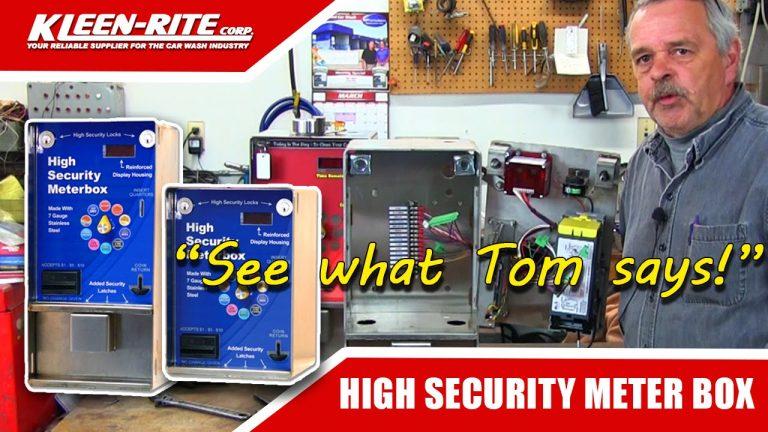 High Security Car Wash Meter Box