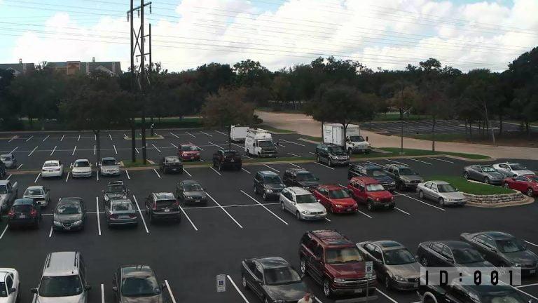 BLK-HDPTZ12 Security Camera Parkng Lot Surveillance Video