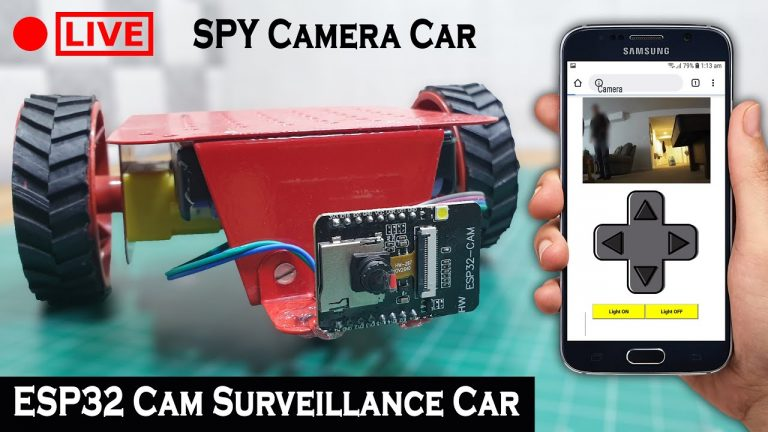 ESP32 CAM Surveillance Car   SPY Camera Car